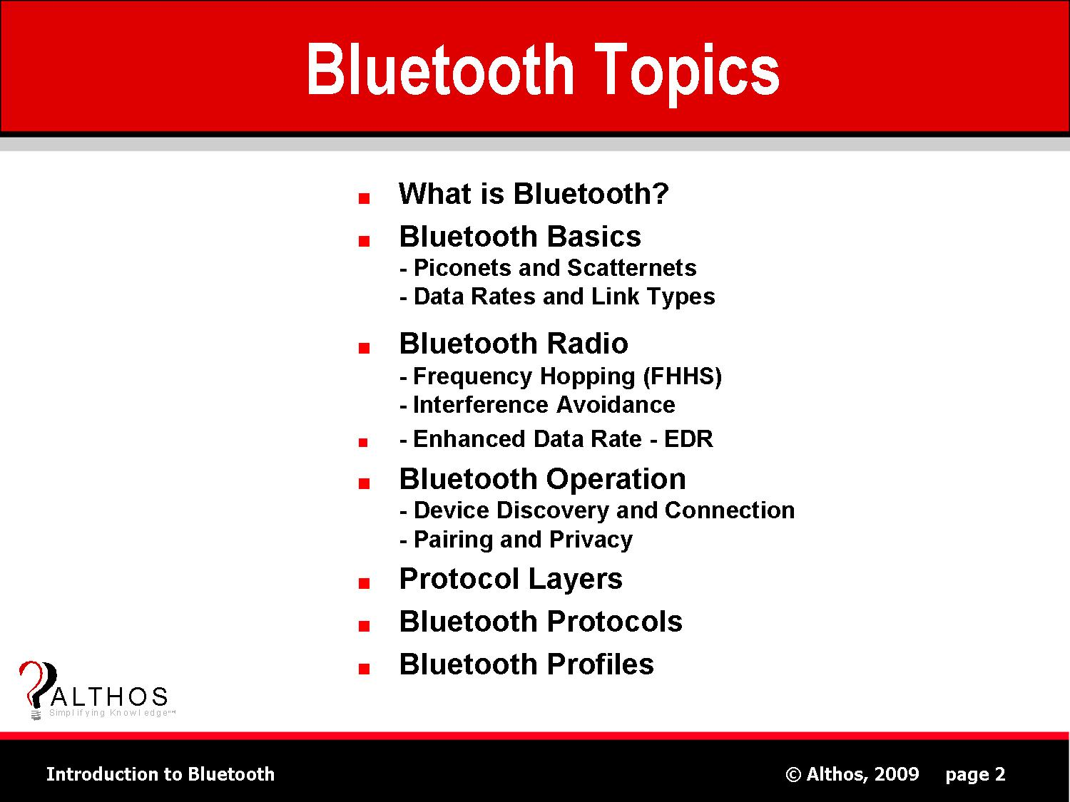 Bluetooth Topics