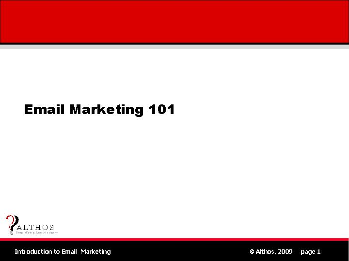 Email Marketing 101 Title Slide