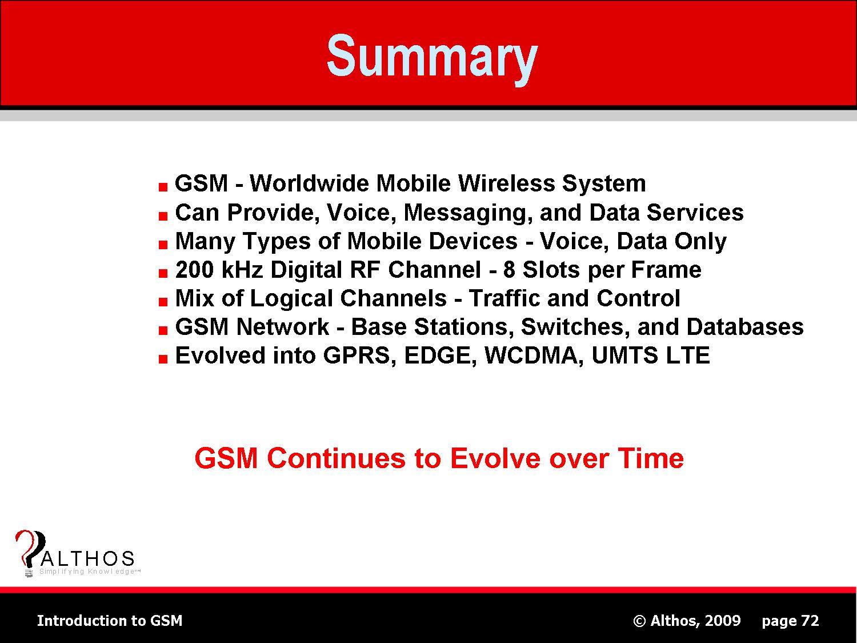 Summary Gsm sum...