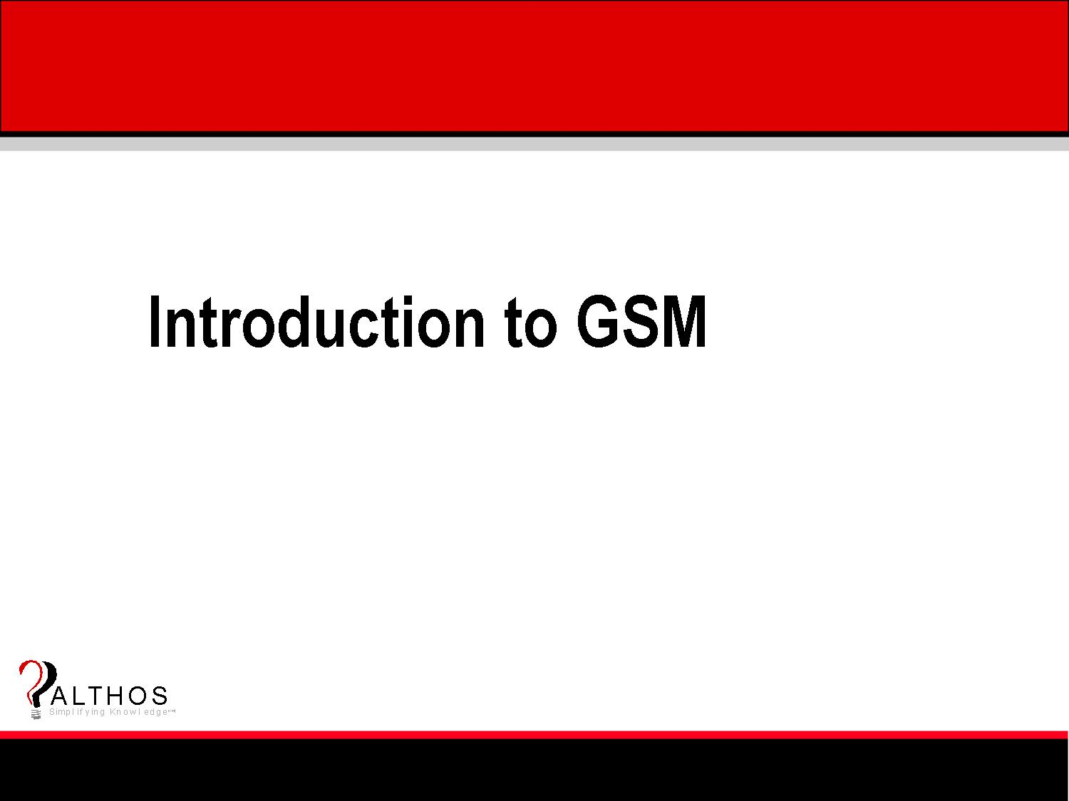 GSM Tutorial Title Slide