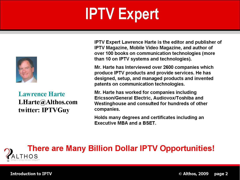 IPTV Expert Lawrence Harte