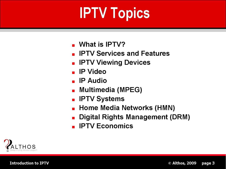 IPTV Topics