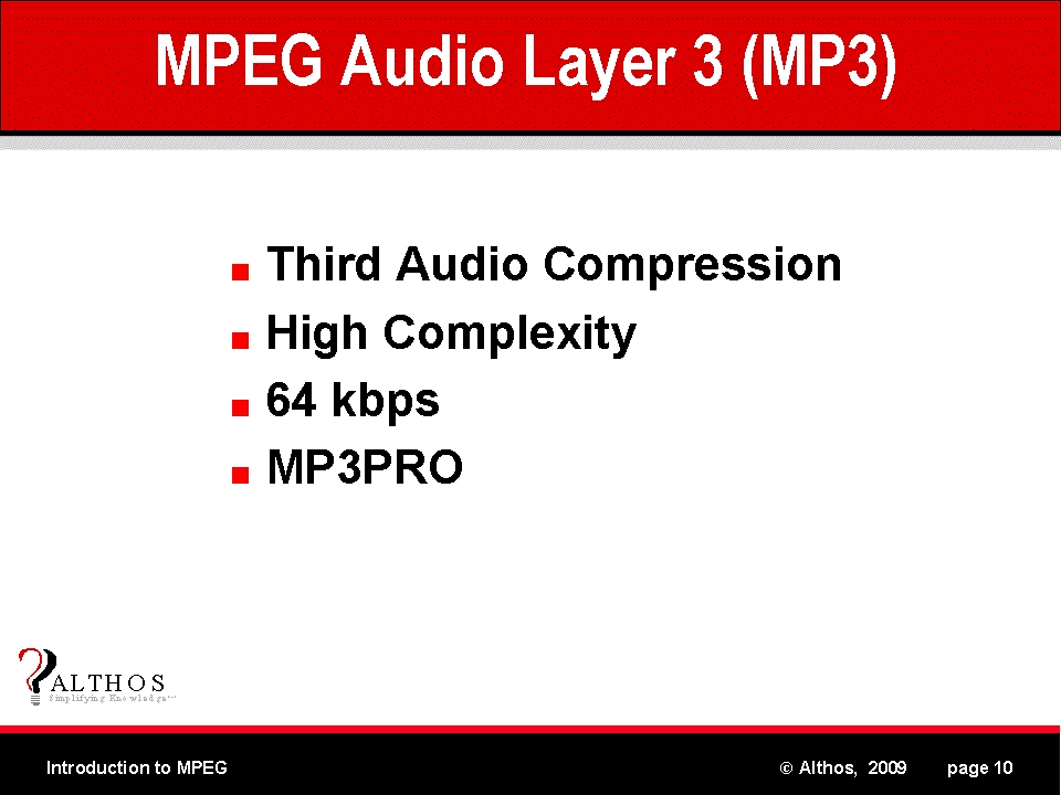 the introduction to the moving pictures expert group layer 3 an mp3 The moving picture experts group and coded representation of moving pictures, audio, and their combination, in order to satisfy a wide variety of applications mpeg-1 audio layer iii (mp3) is the quasi-universal choice for portable music.