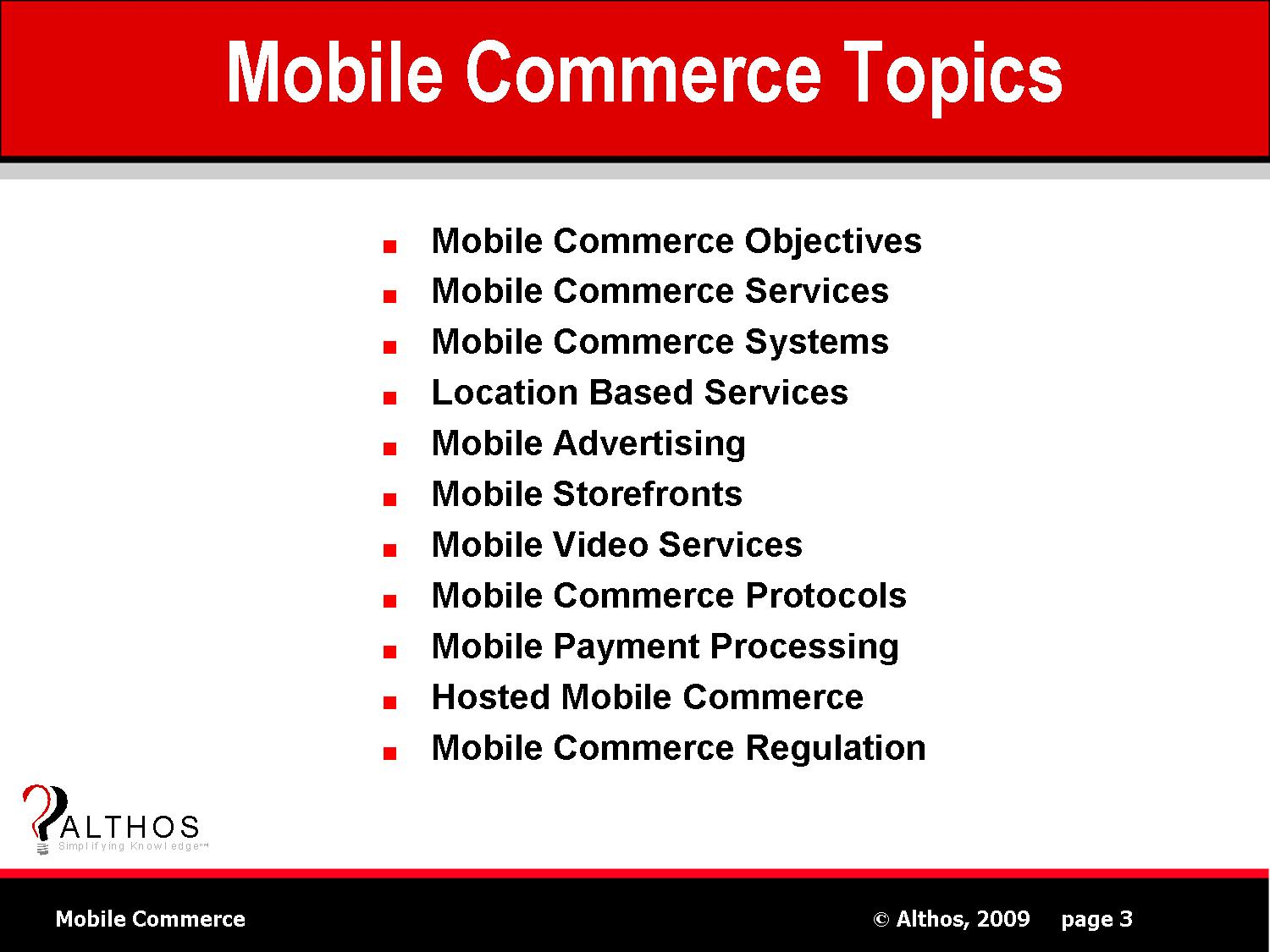 Mobile Commerce Topics Slide Image
