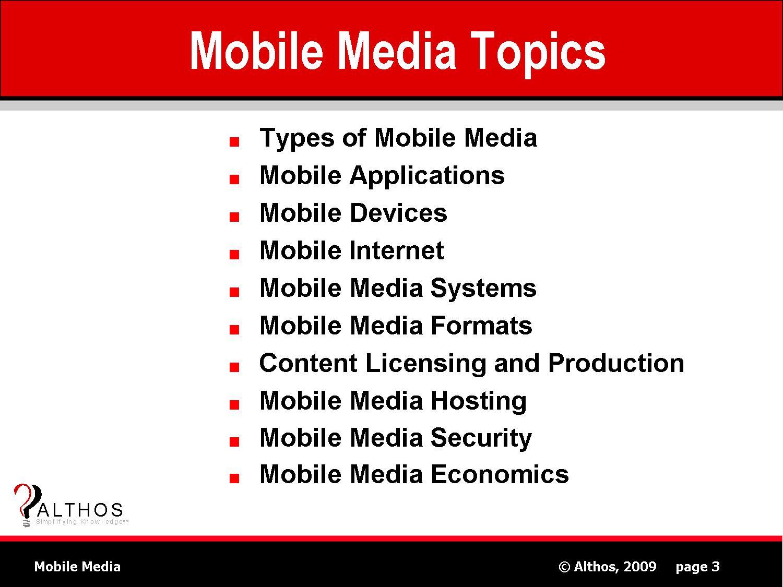 Mobile Media Topics Slide Image
