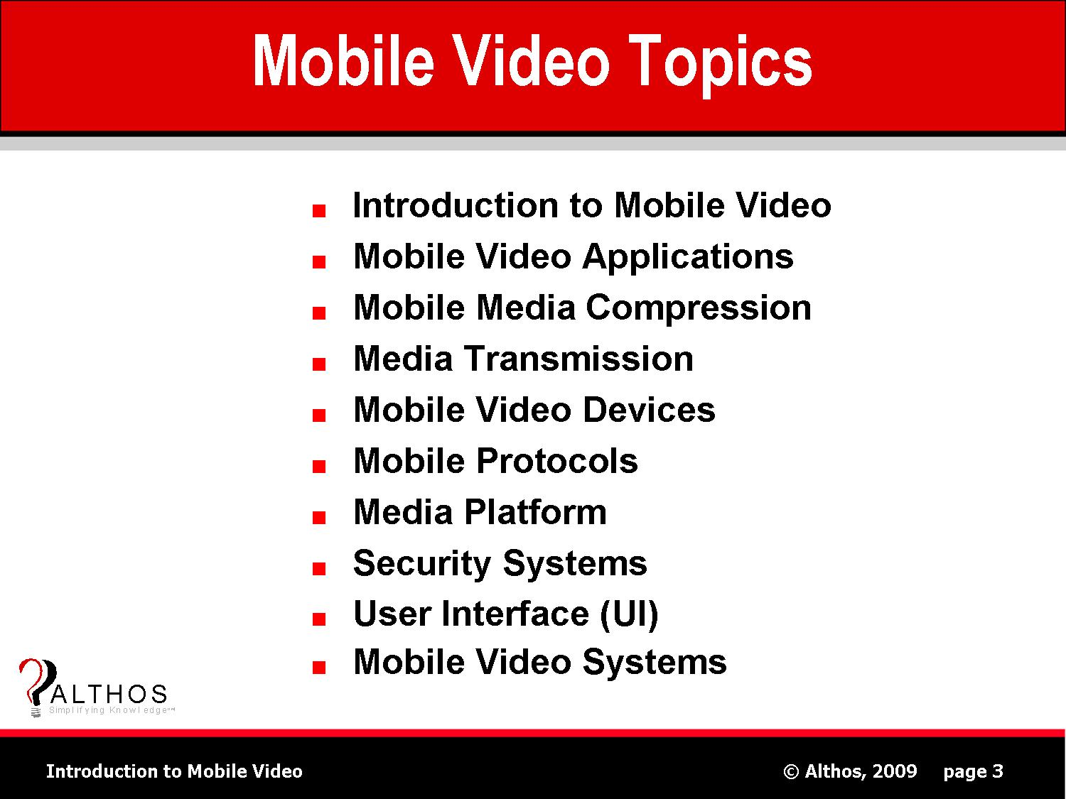 Mobile Video Topics Slide Image