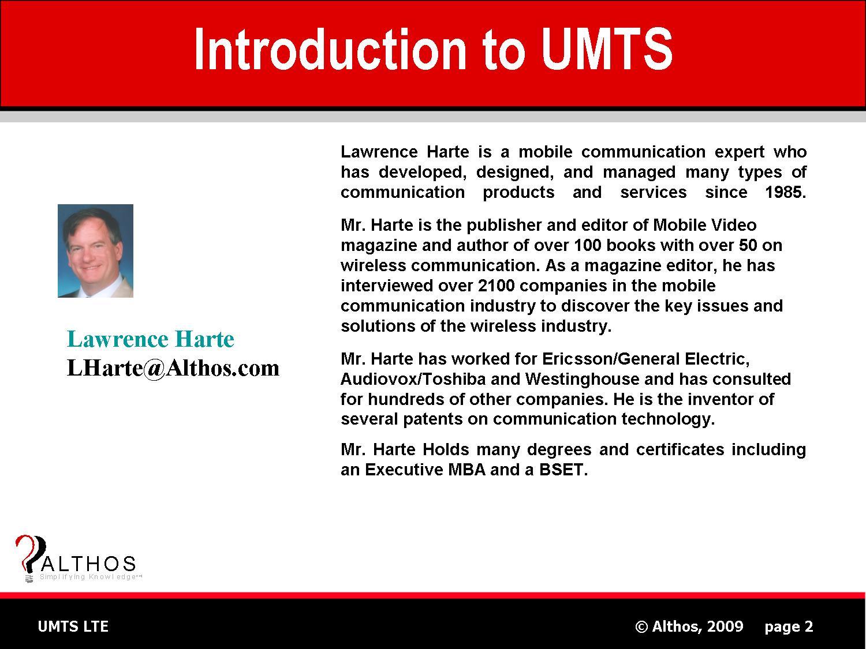UMTS LTE Tutorial Expert Slide