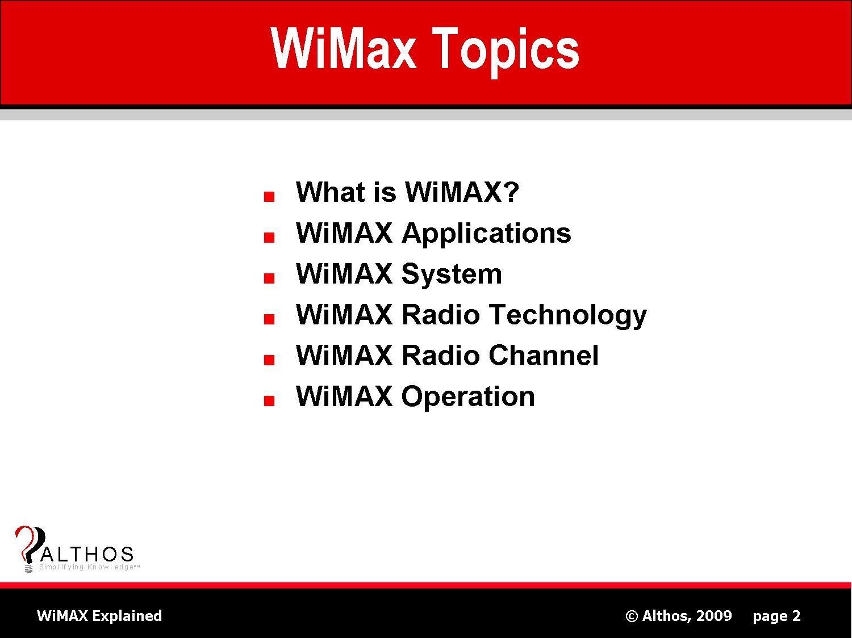 Wimax Topics
