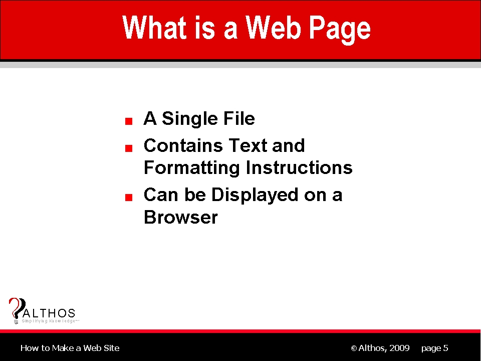 Web design tutorial what is a web page for It web page