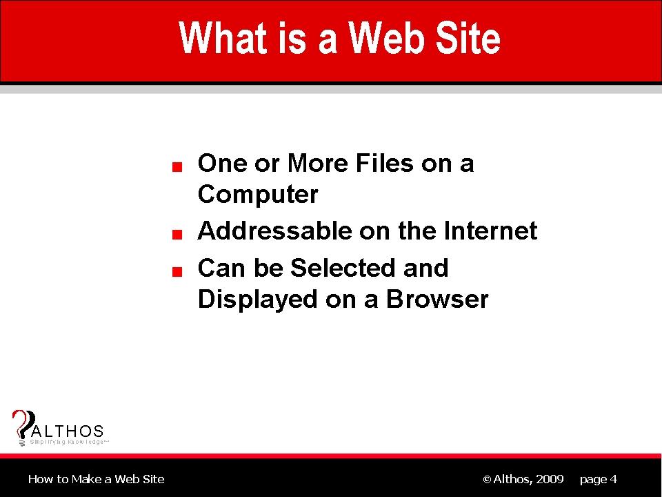 Web Site Design Tutorial - What is a Web Site