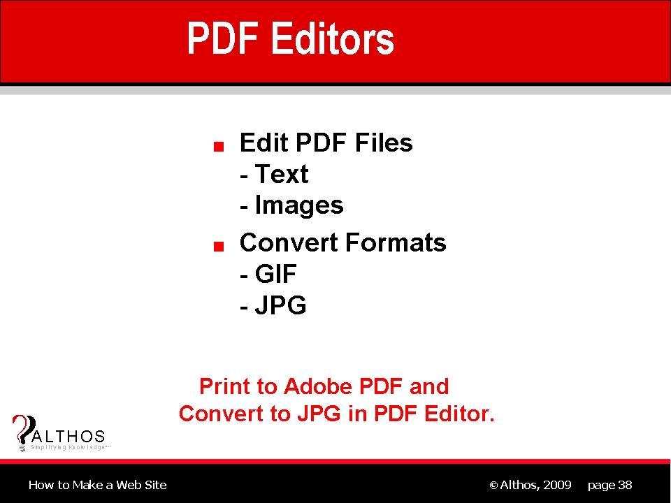 Web Site Design Web Site Pdf Editor