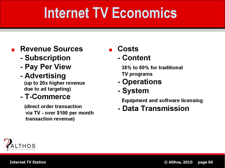 internet tv station software