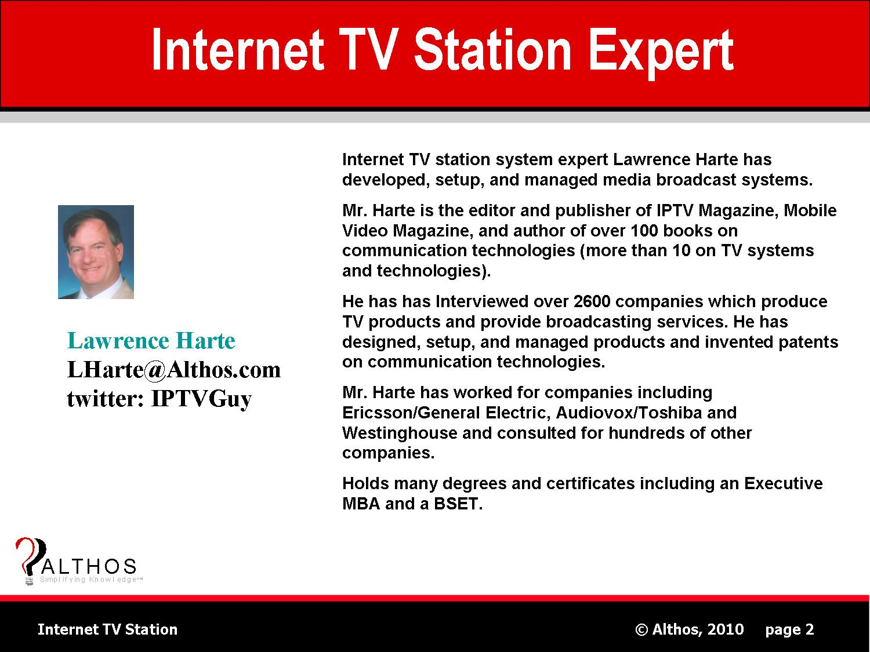 Internet TV Station Expert