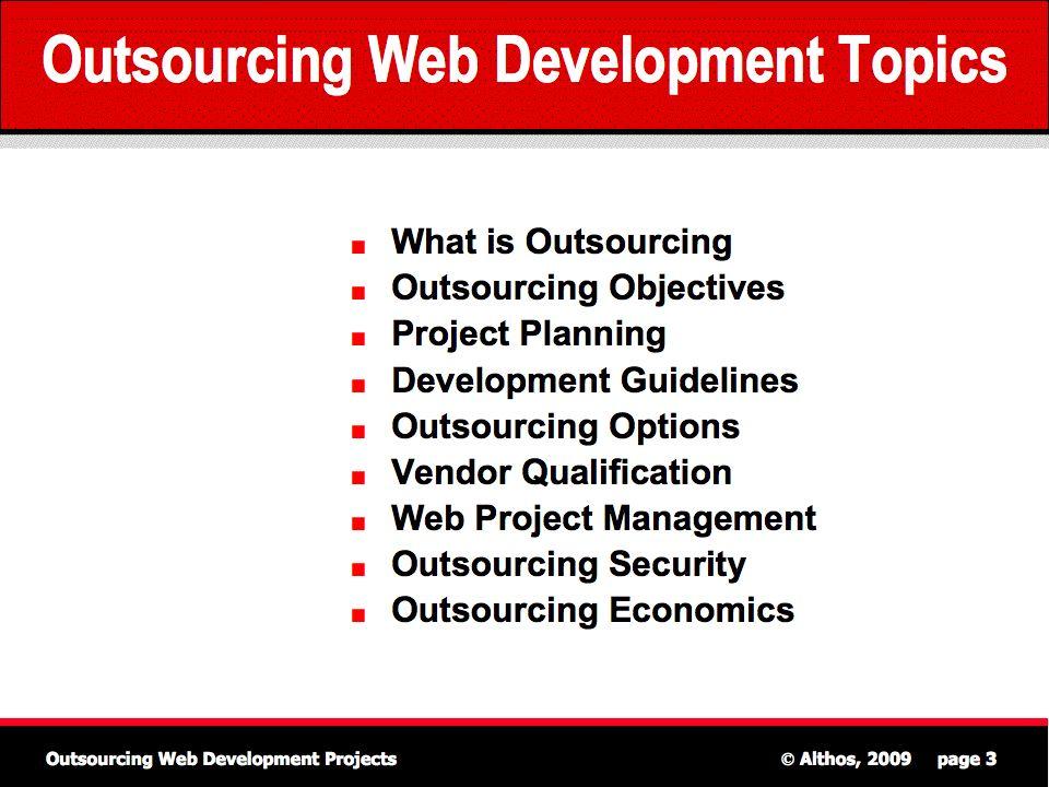 Outsourcing Web Development Topics