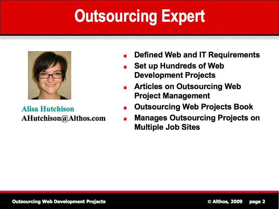 Outsourcing Web Projects Expert