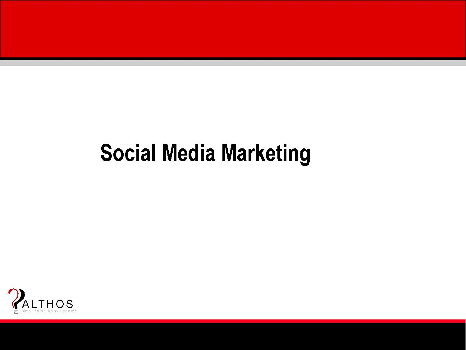 Social Media Marketing Tutorial Slide Title