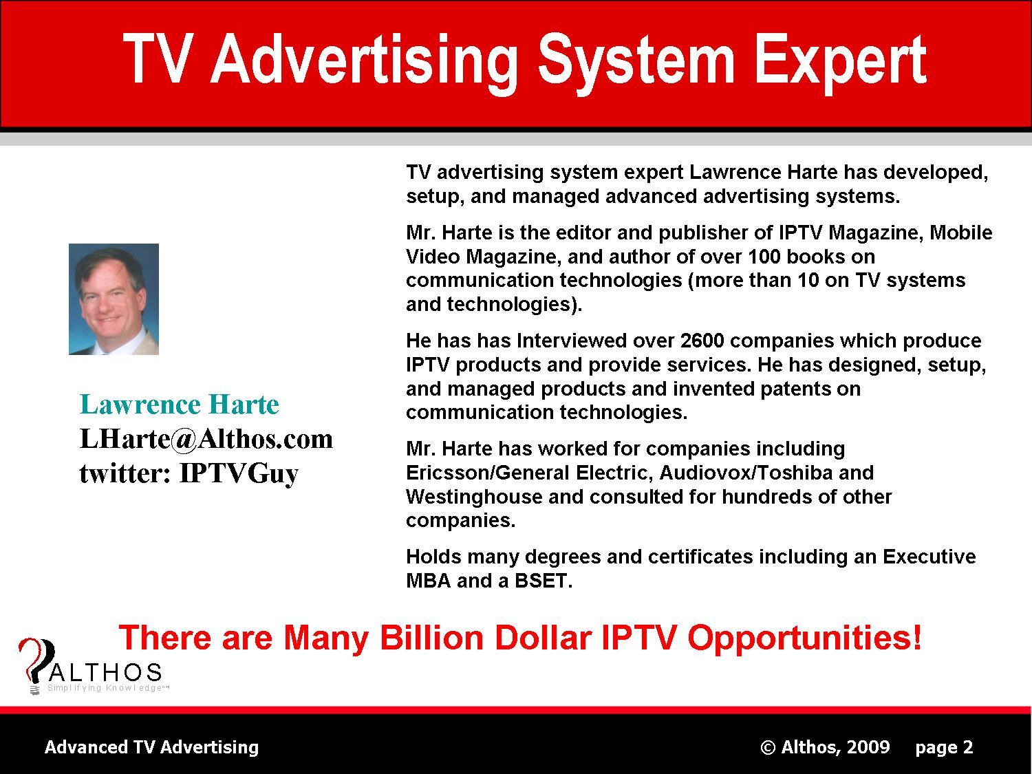 TV Advertising Marketing Expert